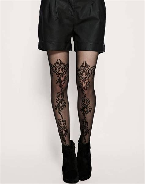 patterned lace tights pattern sheer tights