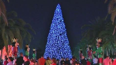 lake eola christmas lights orlando lights up official tree