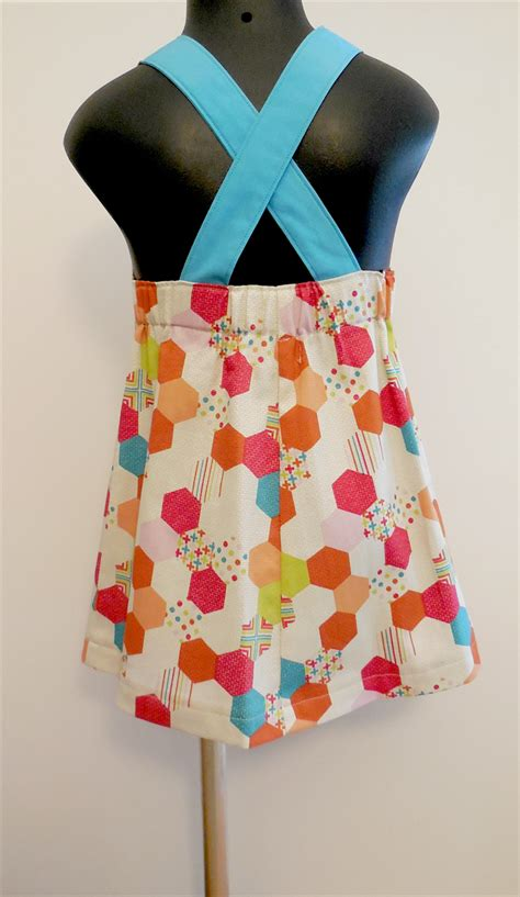 Hexagon Pattern Clothes | girls hexagon pattern pinafore dress sew bliss madeit