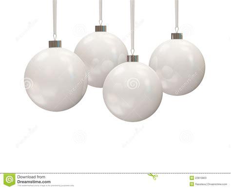 white christmas balls stock  image