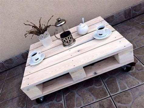 pallet table with wheels rustic pallet coffee table on wheels
