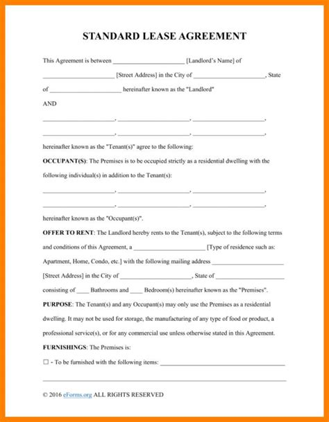 basic agreement basic lease agreement template business