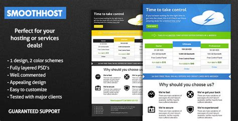 themeforest email templates smoothhost e mail template by b4rr13 themeforest