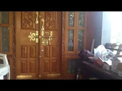 kerala style home front door design kerala house front door design youtube