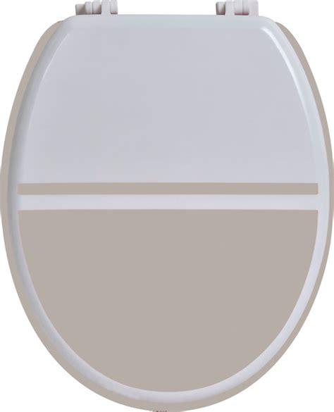 colored elongated toilet seat whitetaupe wood
