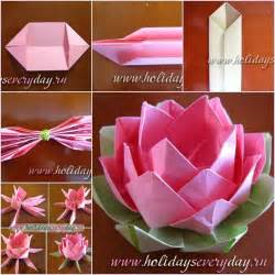 How To Make Lotus Flower From Paper How To Diy Origami Paper Lotus Flower