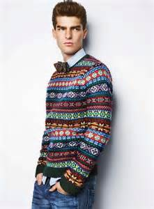 Try teaming a hunter green fair isle crew neck jumper with blue jeans