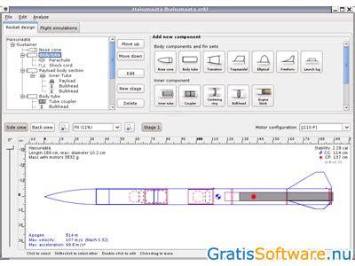 Raket Java Openrocket Downloaden Gratis Raket Simulator