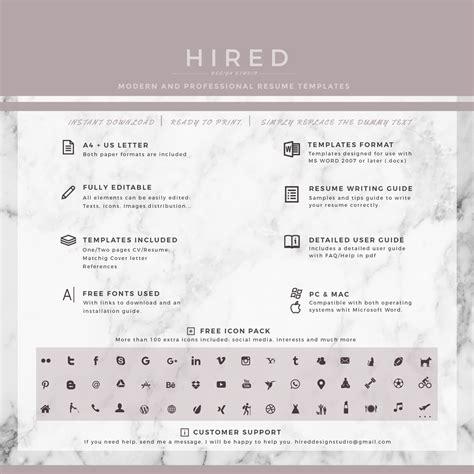 professional resume templates fresh illustration word template cv