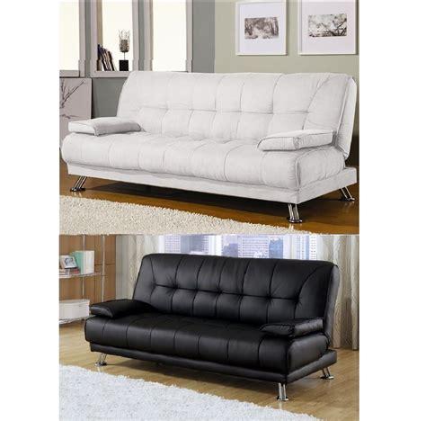 divano letto bianco divano letto 187x88 3 posti cuscini bianco nero