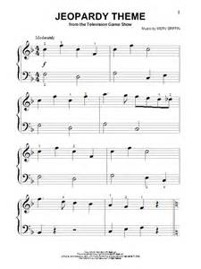 Jeopardy theme sheet music by merv griffin piano big notes