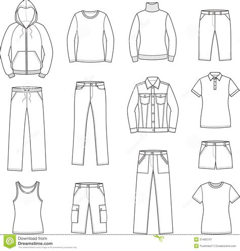 clothes pattern vector womens casual clothes stock vector image of jersey