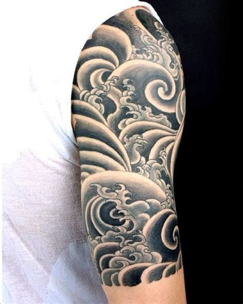 old school japanese tattoo style 60 japanese wave tattoo designs for men oceanic ink ideas