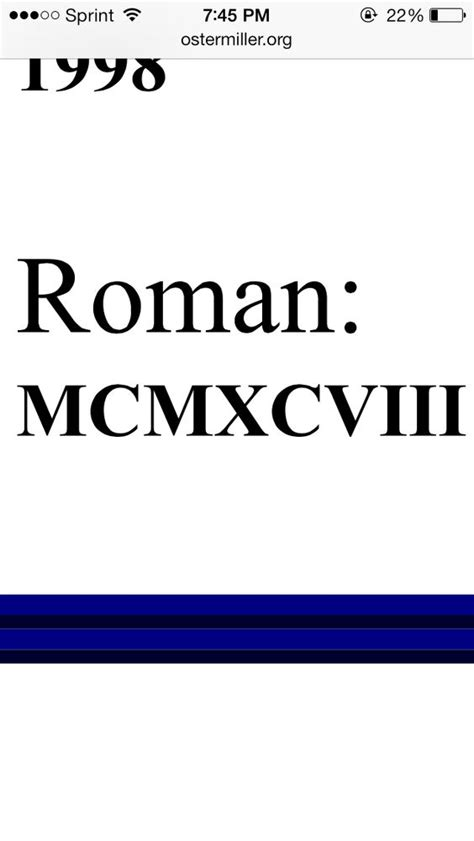 the year 1998 in roman numerals that i want tattooed