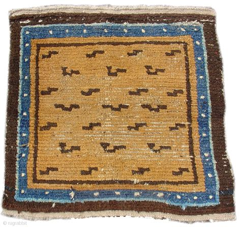 Pap Rugs by Tibetan Tiger Square Mat Second Half Of The 19th Century
