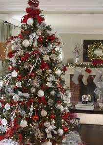 Decorating with dagmar red white and sparkle christmas tree balsam