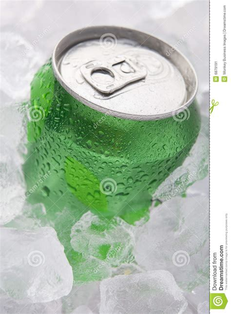 green   fizzy soft drink set  ice stock image image