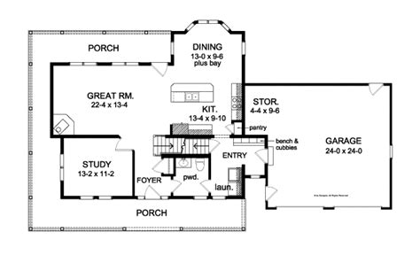 wrap around porch floor plans farmhouse with great wrap around porch hwbdo76664