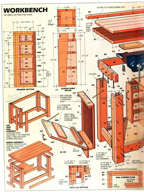 workshop bench ideas home workshop workbench plans woodarchivist
