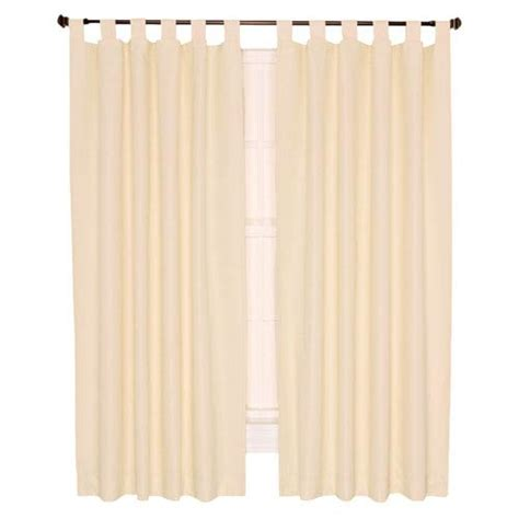 tab top thermal insulated curtains crosby natural thermal insulated 80 by 84 inch tab top
