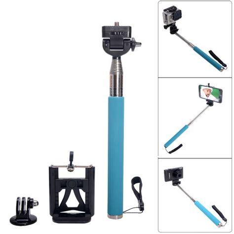 Monopod Iphone cat portable 3 in 1 monopod for gopro sj4000 iphone samsung blue