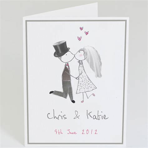 Wedding Card Groom To by Personalised And Groom Wedding Card By Violet