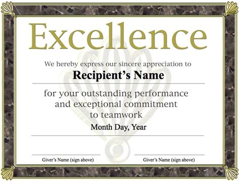 free printable certificate of excellence template 1000 ideas about free certificates on student