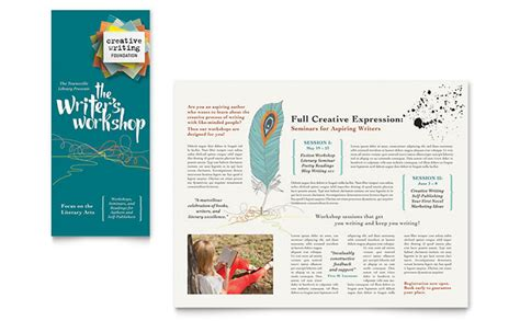 writer s workshop brochure template design