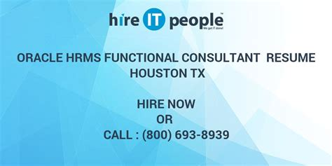 Oracle Hrms Consultant Resume by Oracle Hrms Functional Consultant Resume Houston Tx Hire