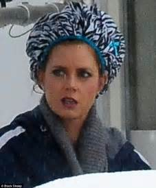 stories of men setting men in curlers amy adams sports zebra print shower cap over curlers on