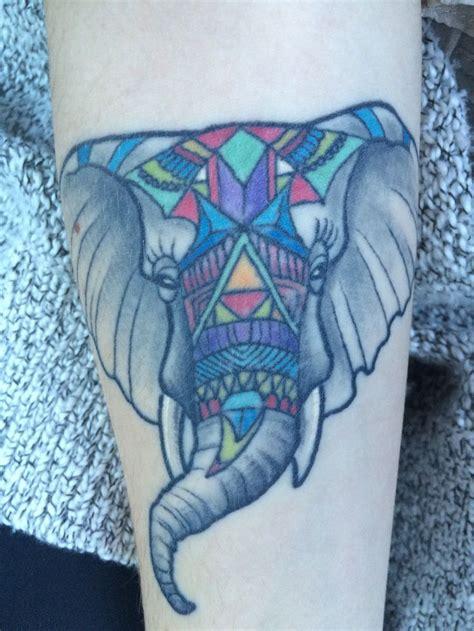 geometric tattoo calgary my geometric elephant done at honor bound tattoos calgary