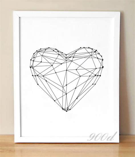 printable wall art hearts heart shape canvas art print home decor