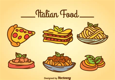 free italiano italian food vector free vector stock