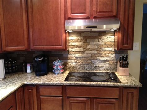stone veneer kitchen backsplash backsplash ideas on pinterest airstone kitchen