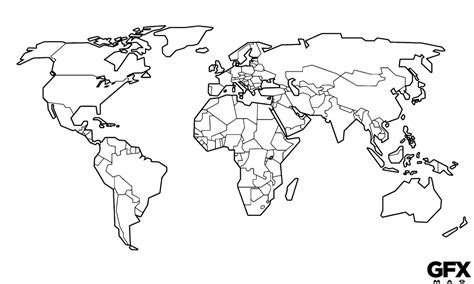 map world black outline clipart world map outline clipground
