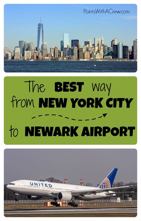 the cheapest and best way to get from manhattan to newark airport points with a crew