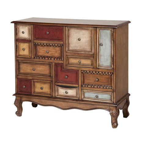 multi colored drawer dresser transitional multi colored accent cabinet with mismatching