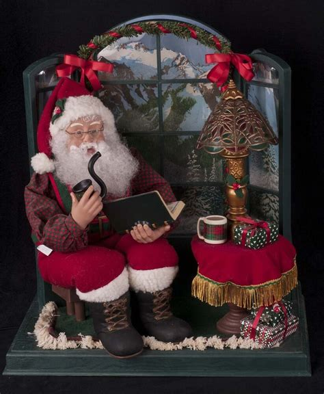 motionettes of christmas creations motionette santa sitting by bay window see ebay