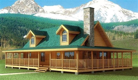 the best of log cabin house plans with wrap around porches