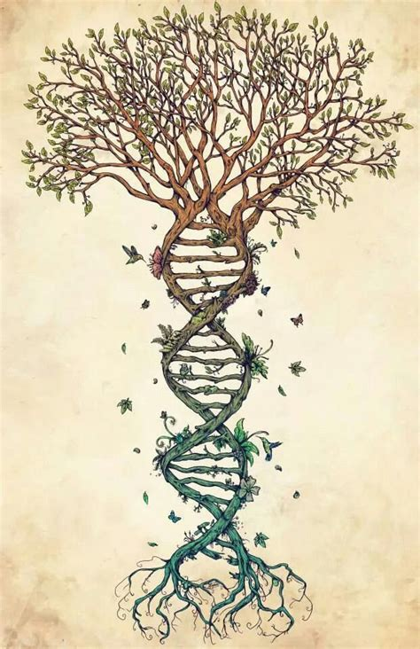dna tree tattoo epic tree of dna pins and needles