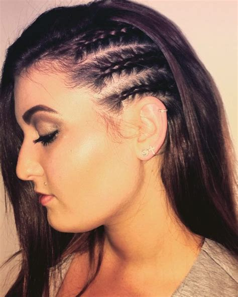 hairstyles with half of head in braids three half braided side twists vlechtjes pinterest