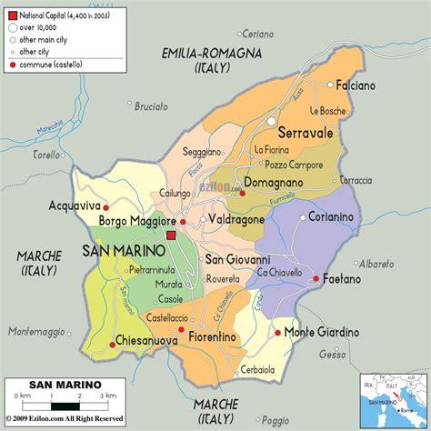 san marino on map of europe san marino regionen karte