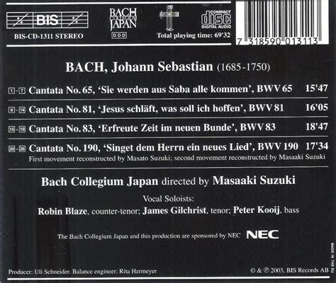Bach Cantatas Suzuki Masaaki Suzuki Bach Collegium Japan Cantatas Volume 21