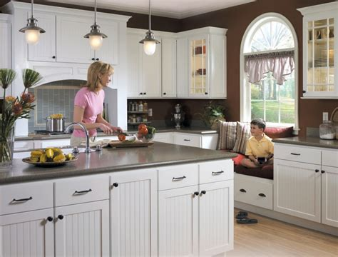 white beadboard kitchen cabinets new furniture drawer and window bench by homecrest ccs