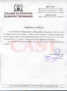 Certification Letter For Teacher Teaching Experience Certificate Format Doc Lawteched