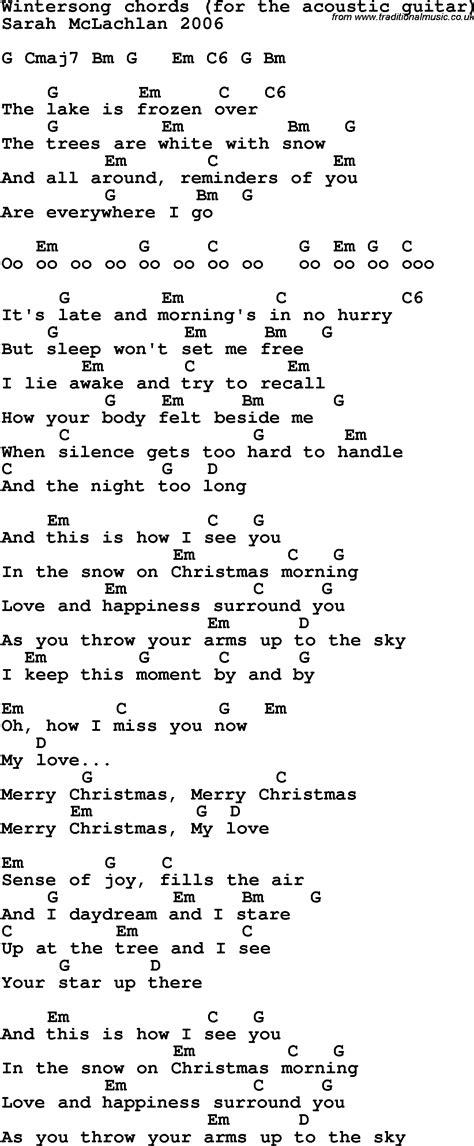 Winter Song Guitar Chords