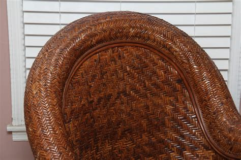 pottery barn wicker chair and ottoman pottery barn rattan quot malabar quot chair and ottoman ebth