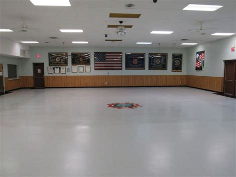 plymouth vfw post has a shiny new banquet room floor