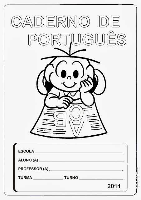Educar X: Capas para caderno de português