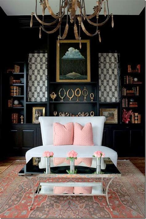 black and pink living room light pink and black living rooms pinterest